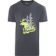 Bergans Elk Tee Men Graphite/Spring Leaves/Solid Grey